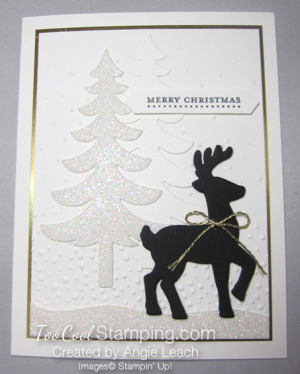 Dazzling reindeer silhouette - tall