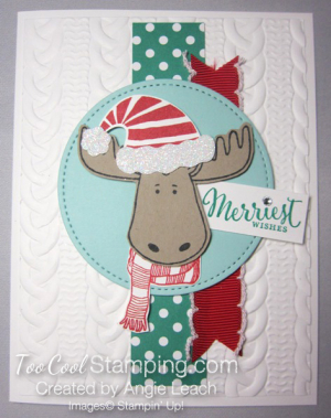 Merriest Moose - traditional with blue circle