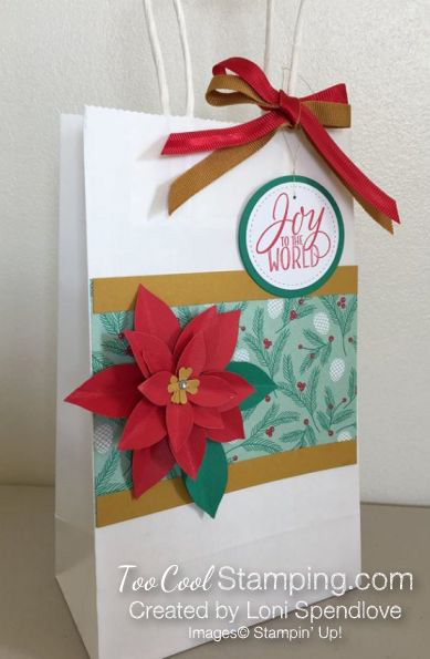Poinsettia Gift Bag - Loni Spendlove
