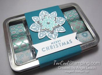 Nugget tins - snowflake indigo