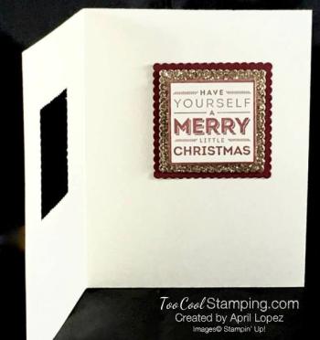 Merry Medley Window Card Project Sheet