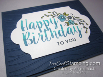 Big on Birthday Two-Tone - Navy 2