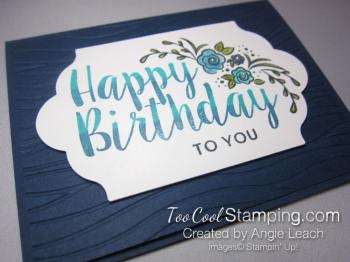Big on Birthday Two-Tone - Navy 2