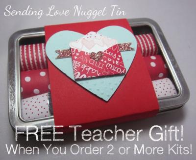 Sending Love Nugget Tin - free 3
