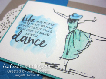 Beautiful You Dance Watercolor - blue 3