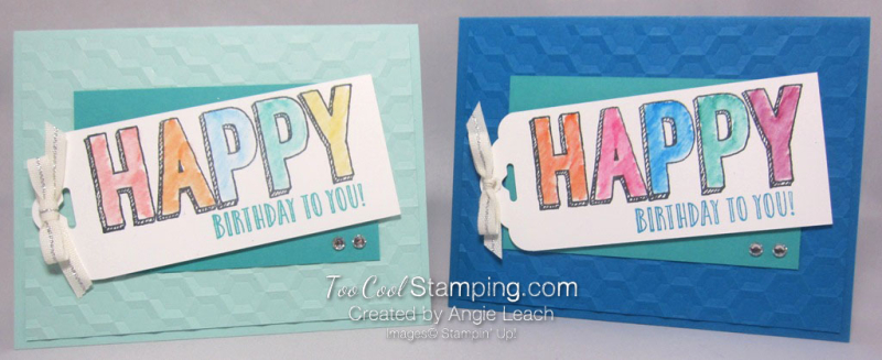 Happy celebrations Hexagons - two cool