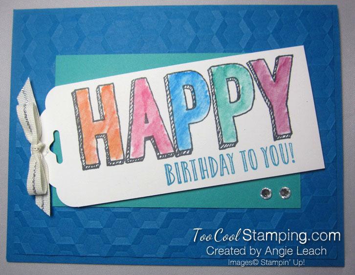 Happy celebrations Hexagons - pacific