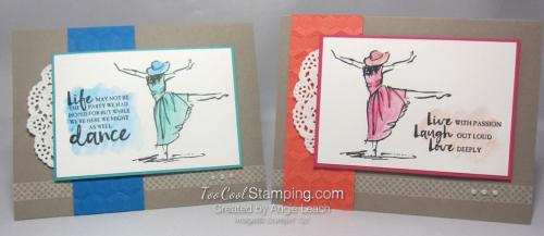 Beautiful You Watercolor Dance - two cool