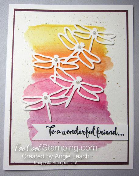 Dragonfly watercolor wash - warm
