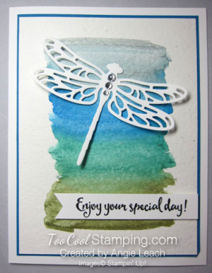 Dragonfly watercolor wash - cool