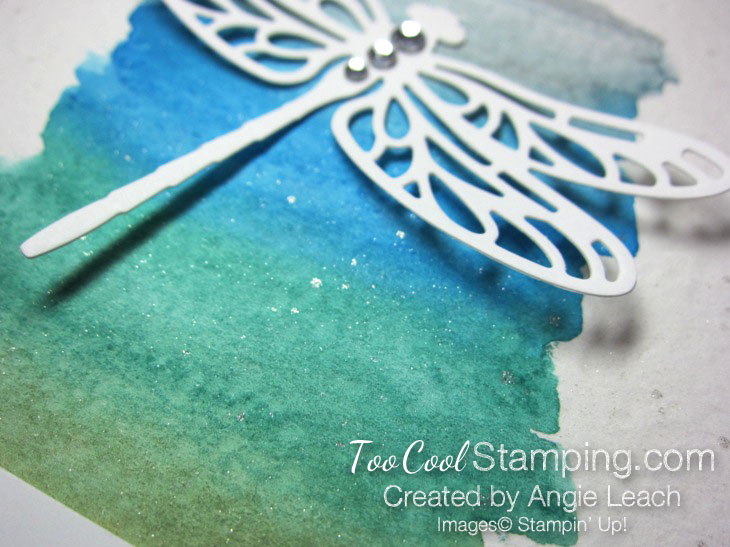 Dragonfly watercolor wash - cool 3