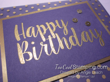 Big on Birthdays Fabulous Foil - gold eggplant 3