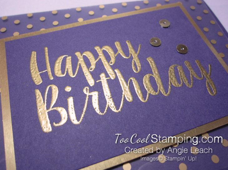 Big on Birthdays Fabulous Foil - gold eggplant 3