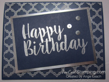 Big on Birthdays Fabulous Foil - silver navy