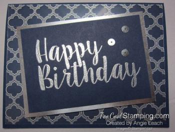 Big on Birthdays Fabulous Foil - silver navy