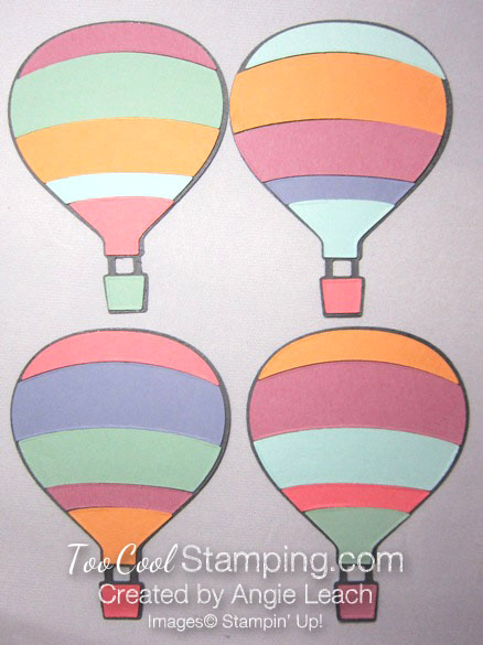 Paper pieced hot air balloon - variations