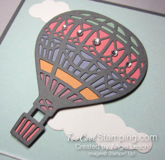 Paper pieced hot air balloon - cloud 9 2