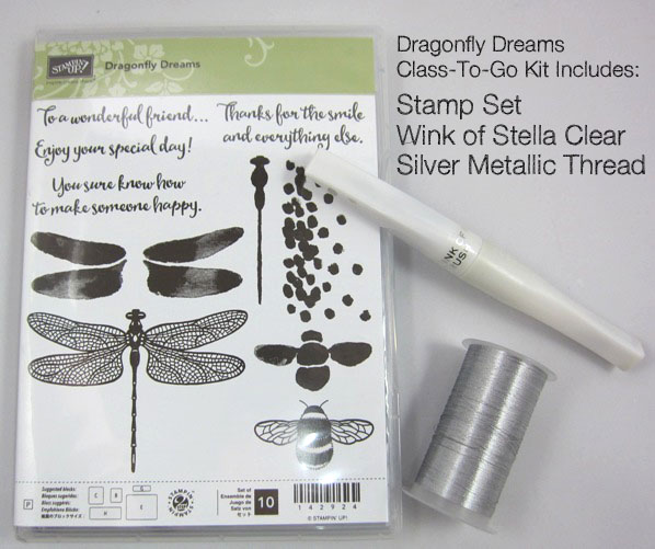 Dragonfly Dreams Class kit contents