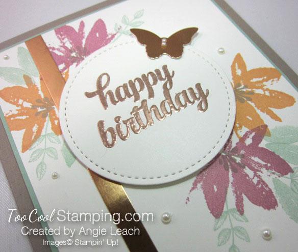 Avant garden copper birthday - sugarplum 2