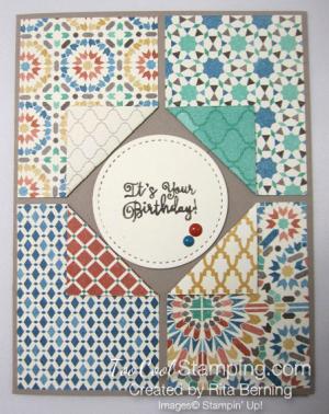 Moroccan corner flip card