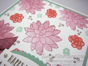 Succulent Gingham Birthday - sugarplum floral 3