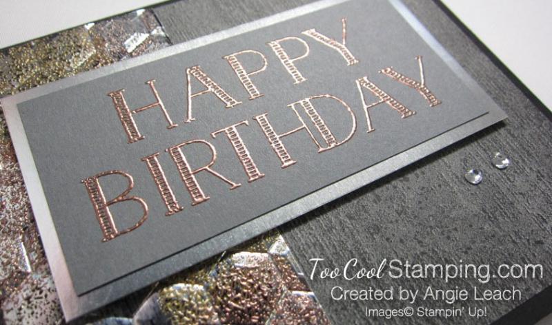 Big On Birthdays Tarnished Foil - copper 4