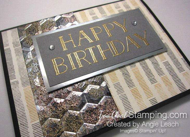 Big On Birthdays Tarnished Foil - gold 2