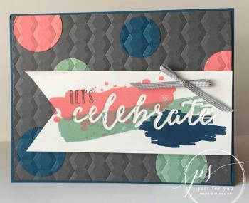 Happy celebration embed embossing - jill olsen