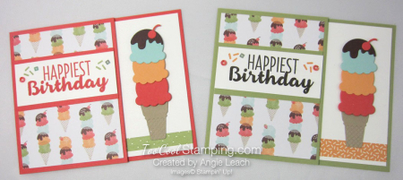 Cool Treats Cone Gift Card Holder - two cool