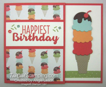 Cool Treats Cone Gift Card Holder - watermelon