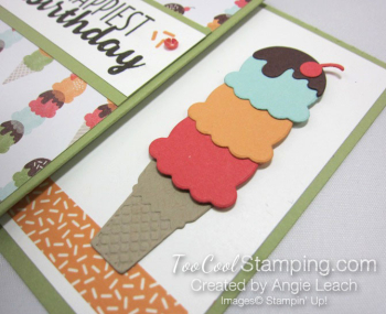 Cool Treats Cone Gift Card Holder - pear 4