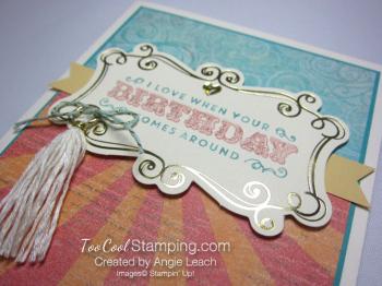 Cupcakes & carousels birthday - tassel 3