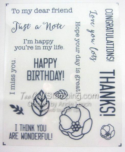 Soft sayings kit - stamp set