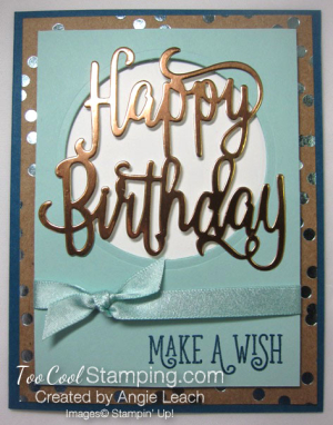 Happy birthday gorgeous copper foil - pool