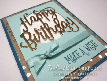 Happy birthday gorgeous copper foil - pool 2.5