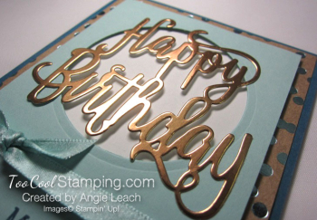 Happy birthday gorgeous copper foil - pool 4
