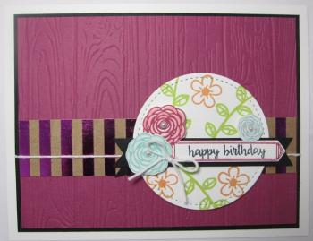 Happy birthday gorgeous planks floral - happy birthday