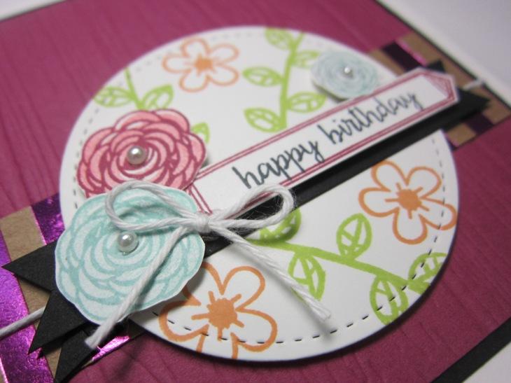 Happy birthday gorgeous planks floral - happy birthday 3