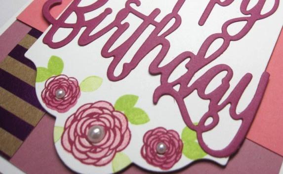 Happy birthday gorgeous floral - sugarplum 3.5