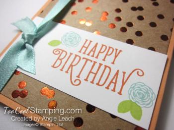 Happy birthday gorgeous gc holder - peach 3