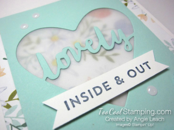 Lovely words vellum window - lovely 3
