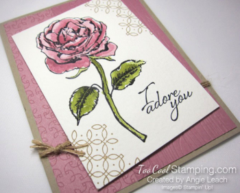 Graceful Garden watercolor - sweet sugarplum 2