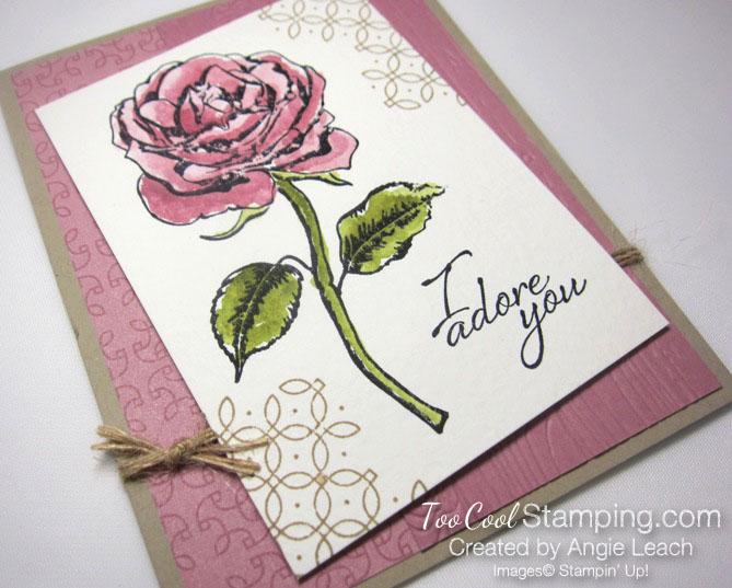 Graceful Garden watercolor - sweet sugarplum 2