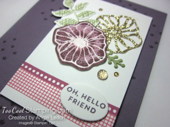 Oh So Eclectic emboss resist collage - plum 3