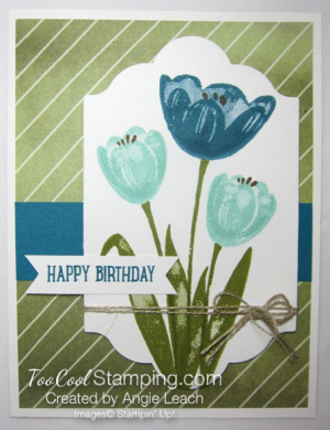 Tranquil Tulips Trio - Olive