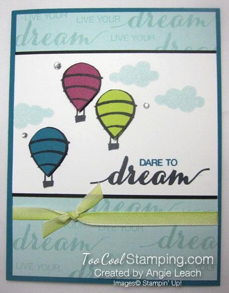 Dare To Dream Balloon trio - dream