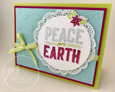 Peace on Earth doily loni spendlove