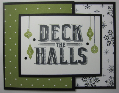 Carols of Christmas Deck The Halls Joy - snowflake dots