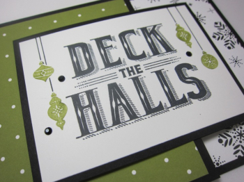 Carols of Christmas Deck The Halls Joy - snowflake dots 3
