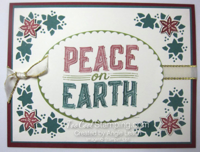 Carols of Christmas Poinsettias - peace markers